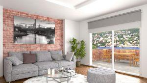 Cortinas Roller en el Living. cortinasrollerblackout.com.ar
